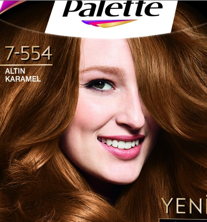 Palette Deluxe 7 554 Altin Karamel Sac Boyasi Sac Boyasi Sac Kahkul Sac Kesimi