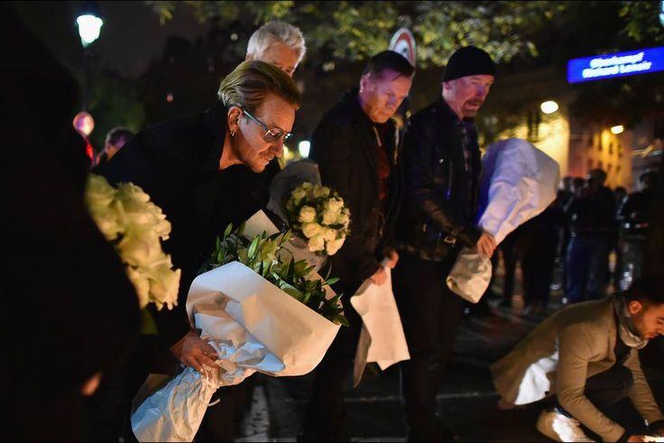 U2 se recueil devant le Bataclan