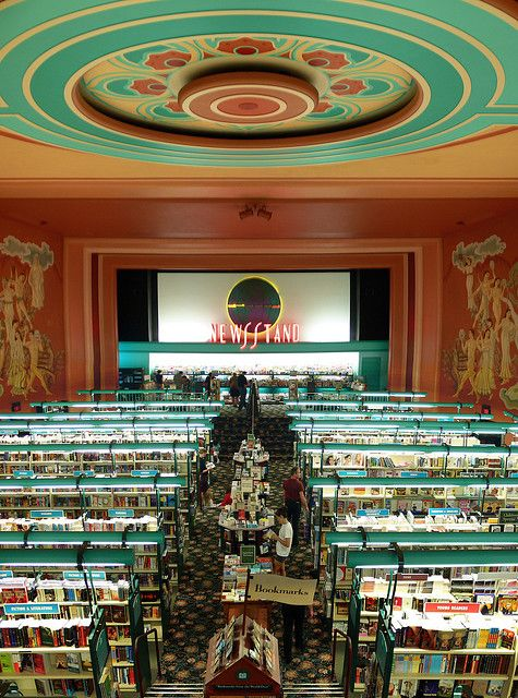 The old Bookstop in Houston had an original Art Deco movie theatre interior. Now it is a Trader Joes :(