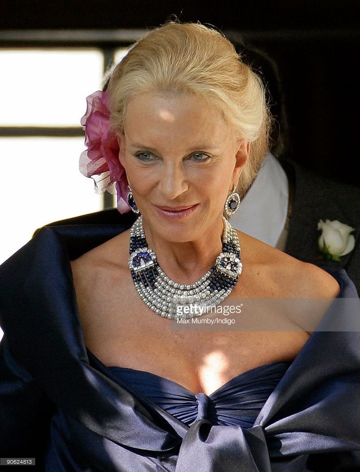 HRH Princess Michael of Kent leaves the home of Lady Annabel Goldsmith to attend the wedding of her son Lord Frederick (Freddie) Windsor to Sophie Winkleman at Hampton Court Palace on September 12, 2009 in London, England.