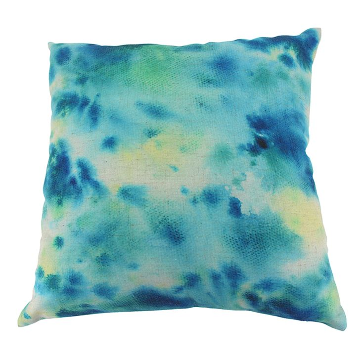 Watercolour Cushion Cover | Blue | 45x45cm by Cushions & Ceramics on THEHOME.COM.AU