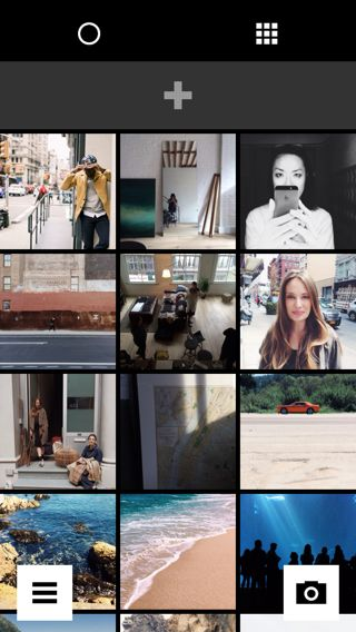 VSCO iPhone photo gallery, galleries, library screenshot