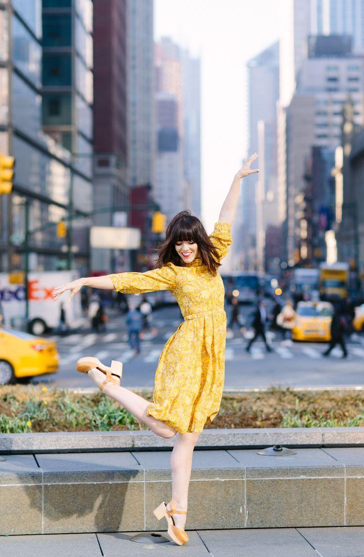 Yellow Midi Dress.