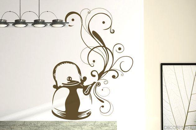 узоры на стену своими руками трафареты картинки на кухню