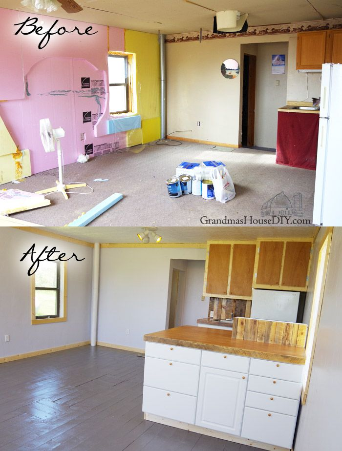 After Two Weeks And 3 000 The Little House Remodel Is Finally Complete Come See Before Afters Pics How We Did It Fully Diy