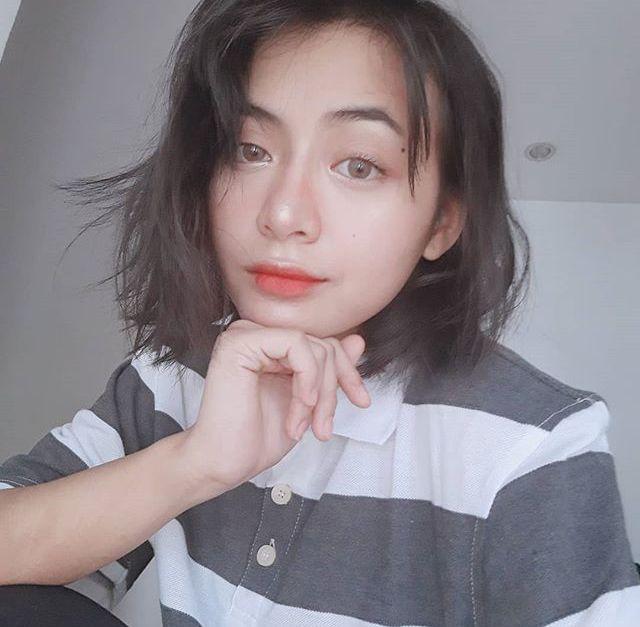 Mnl48 Gabby Short Hair Styles Aesthetic Girl Peach Aesthetic
