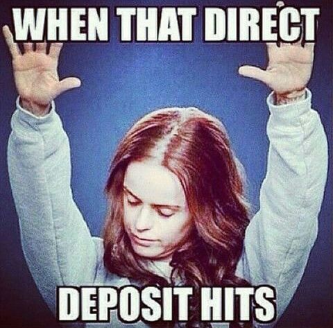 Thank you Jesus  This is exactly how my son looked when his first payday hit the bank!!! Lol