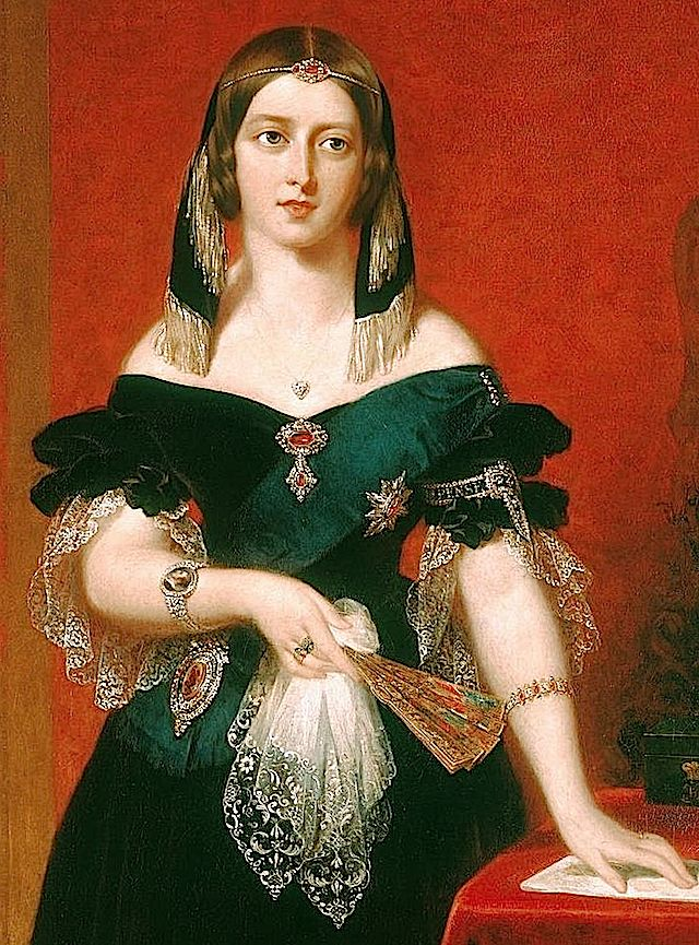 1840 Queen Victoria wearing rubies by John Partridge (Royal Collection)
