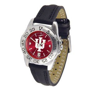 Indiana Hoosiers NCAA AnoChrome Sport Ladies Watch (Leather Band) by SunTime. $53.10. Rotation Bezel/Timer. Calendar Date Function. Scratch Resistant Face. This handsome, eye-catching watch comes with a genuine leather strap. A date calendar function plus a rotating bezel/timer circles the scratch-resistant crystal. Sport the bold, colorful, high quality logo with pride. The AnoChrome dial option increases the visual impact of any watch with a stunning radial reflection simil...