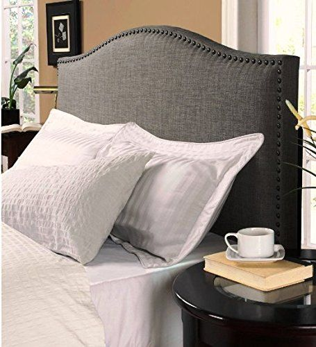 Modern Upholstered Padded Gray Linen Fabric Headboards-KING SIZE. King Size Headboards Make Your Bedroom Complete. This King Headboard is Stylish Yet Simple. A Headboard Is Ideal For Sitting Up Reading In Bed. Head boards/Headboards Are Great. Better Homes & Gardens