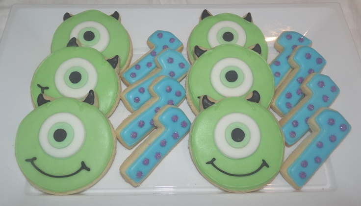 Monsters Inc. Cookies. £4.00, via Etsy. Liam 1st bday