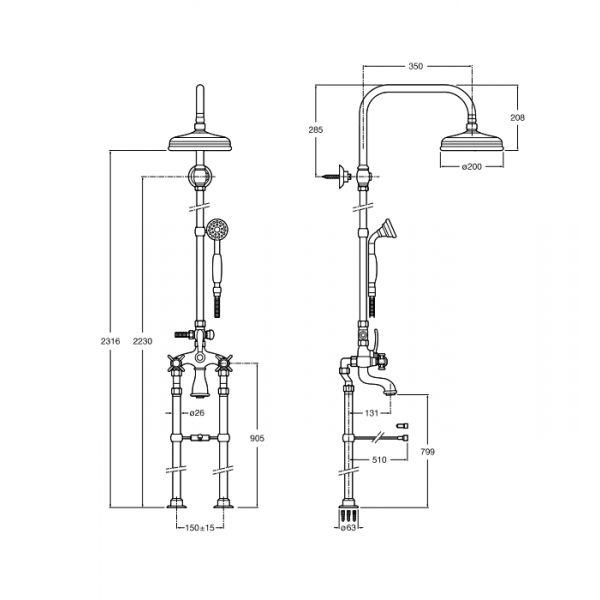 mezcladora para ducha exterior