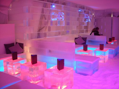 Ice Bar, London. I've been here and it's awesome!