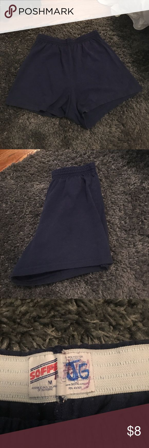 Soffee shorts Navy blue SOFFEE shorts. EXCELLENT CONDITION. initials in label. Price reflects. Soffe Shorts