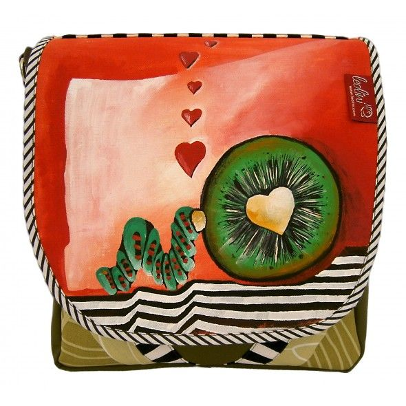 Verliebte Kiwi - handgefertigte Handtasche von Leolini #leolini #handcrafted #bag #kiwi