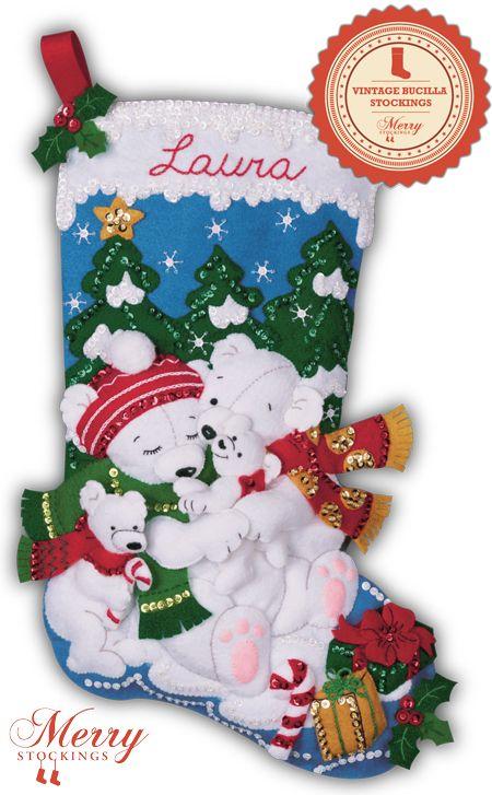 Polar Bears bucilla stocking kit large