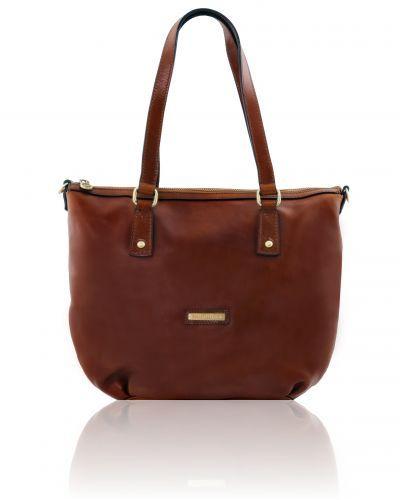 OLGA TL141484 Leather shopping bag - Large size
