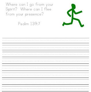 FREE Psalm 139 NIV handwriting Printables. Cursive and printing.