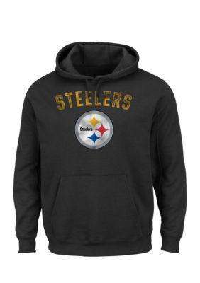 Majestic Black Pittsburgh Steelers Kick Return Hooded Fleece Sweatshirt