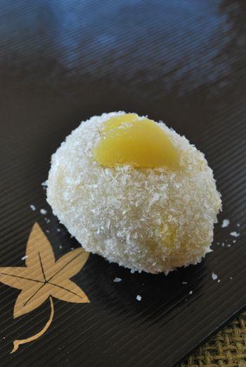 初雪餅 Hatsuyuki mochi - First snow mochi (rice cake)