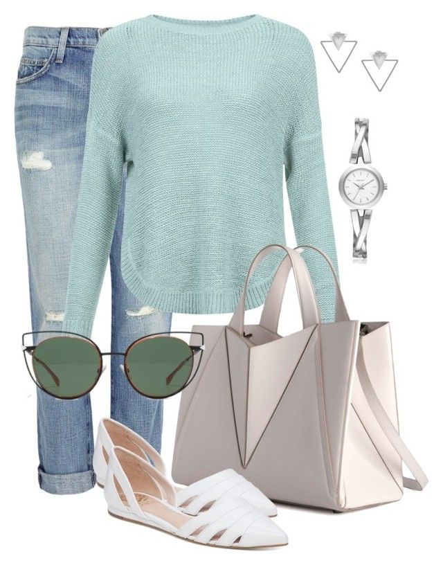 Airport 101 by indirareeves on Polyvore featuring polyvore fashion style JDY Current/Elliott Vince Camuto DKNY Eloquii Fendi clothing