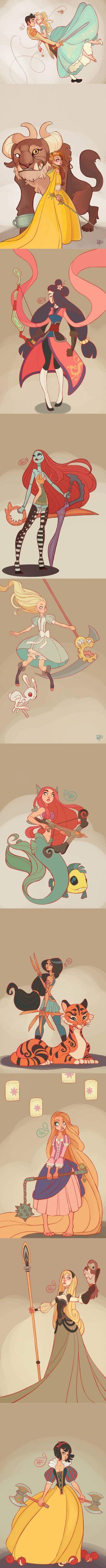 Amazing Disney Art By: MeoMai (Source: meomai.deviantart.com)