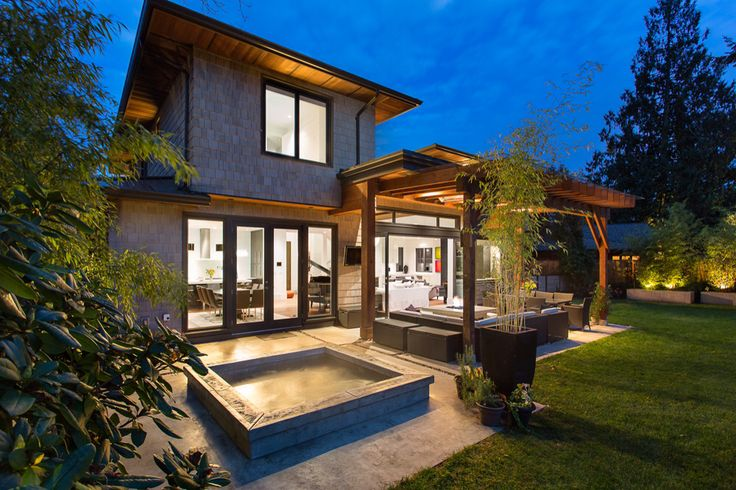 Amazing patio with concrete hot tub, 400 sqft covered and heated deck. 4209 Pelly Rd, North Vancouver www.vpgrealty.ca