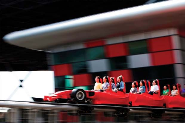Ferrari World Abu Dhabi's Formula Rossa, the world's fastest roller coaster, reaching speeds of 240 kmph! Find out what that feels like at the world's largest Ferrari theme park!