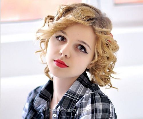 Superb Short Curly Hairstyles for Round Faces  The post  Short Curly Hairstyles for Round Faces…  appeared first on  99Haircuts .