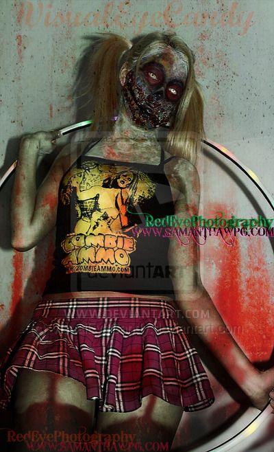 Hoola Hoop Zombie girl Visual Eye Candy by VisualEyeCandy.deviantart.com on @deviantART