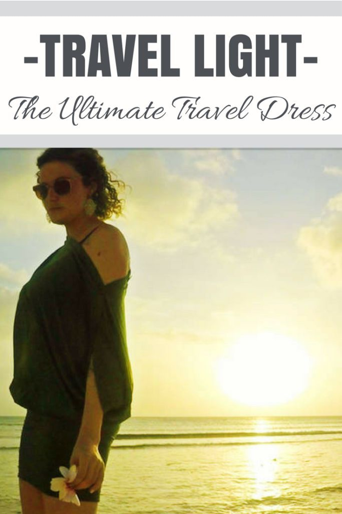 Pack light & travel with style with the best travel dress out there. | Travel Outfits | Travel Dress | Travel wardrobe | Convertible Travel Dress