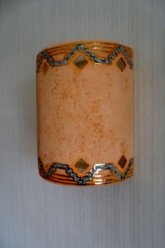 Southwestern Wall Sconce Patina Havens with 24ct Gold Glaze