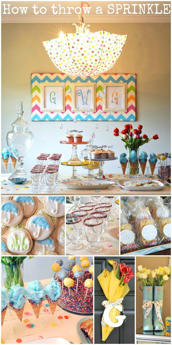Sprinkles are the new trend for baby #2, 3 etc when you don't throw a baby shower.  This one is PERFECT!