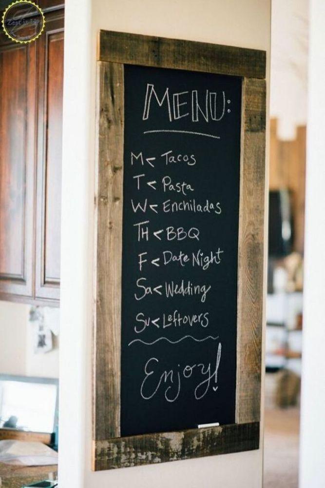 Diy Farmhouse Kitchen Chalkboard Sign Chalkboard Wall Kitchen