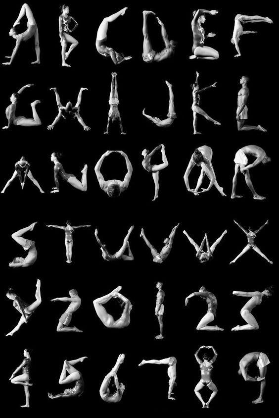 Gymnastics game alphabet