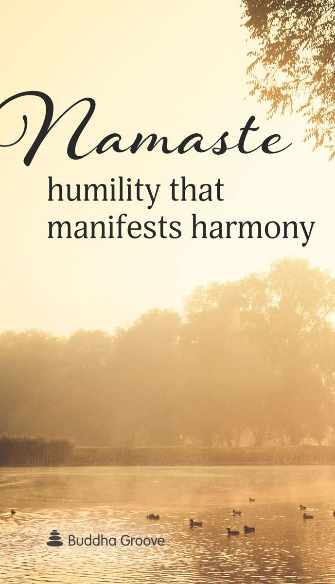 Namaste: Humility that manifests harmony. When spoken from the heart, Namaste plants the seeds for peace between individuals.