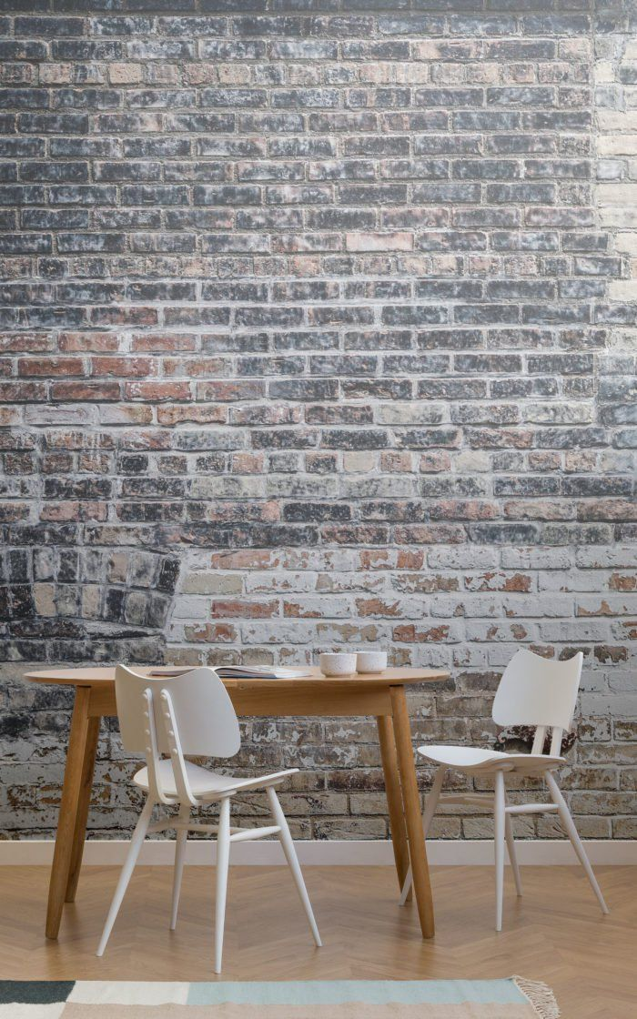 Or A Teared Piece Of Brick Wallpaper Dining Room Small