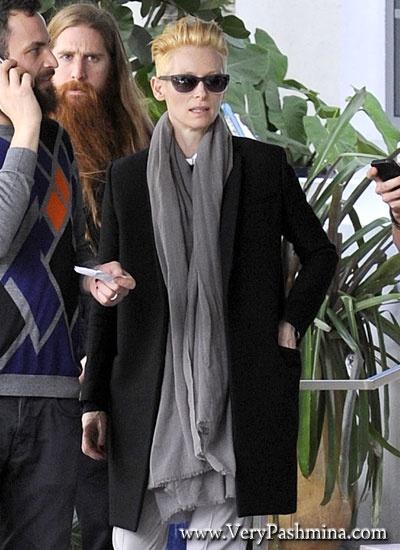 #TildaSwinton Views Art In A Long #GreyScarf