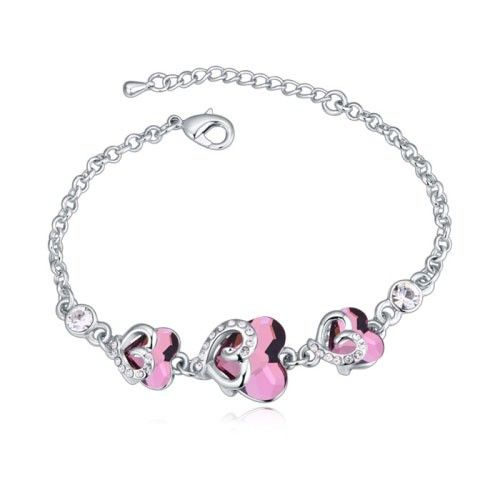 $15,9 Sweetheart Swarovski crystal bracelet - Yohanna Jewelry Wholesale. BEST PRICE: Directly in the jewelry factory. VAT-free shopping: Available, partners based in the European Union, only applies to EU tax identification number (UID). Exclusive design SWAROVSKI crystals and AAA Zircon crystal jewelry and men's stainless steel jewelry and high-quality stainless steel jewelry for couples sell in bulk to resellers! Please contact us.