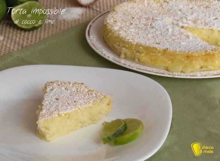Torta impossibile al cocco e lime