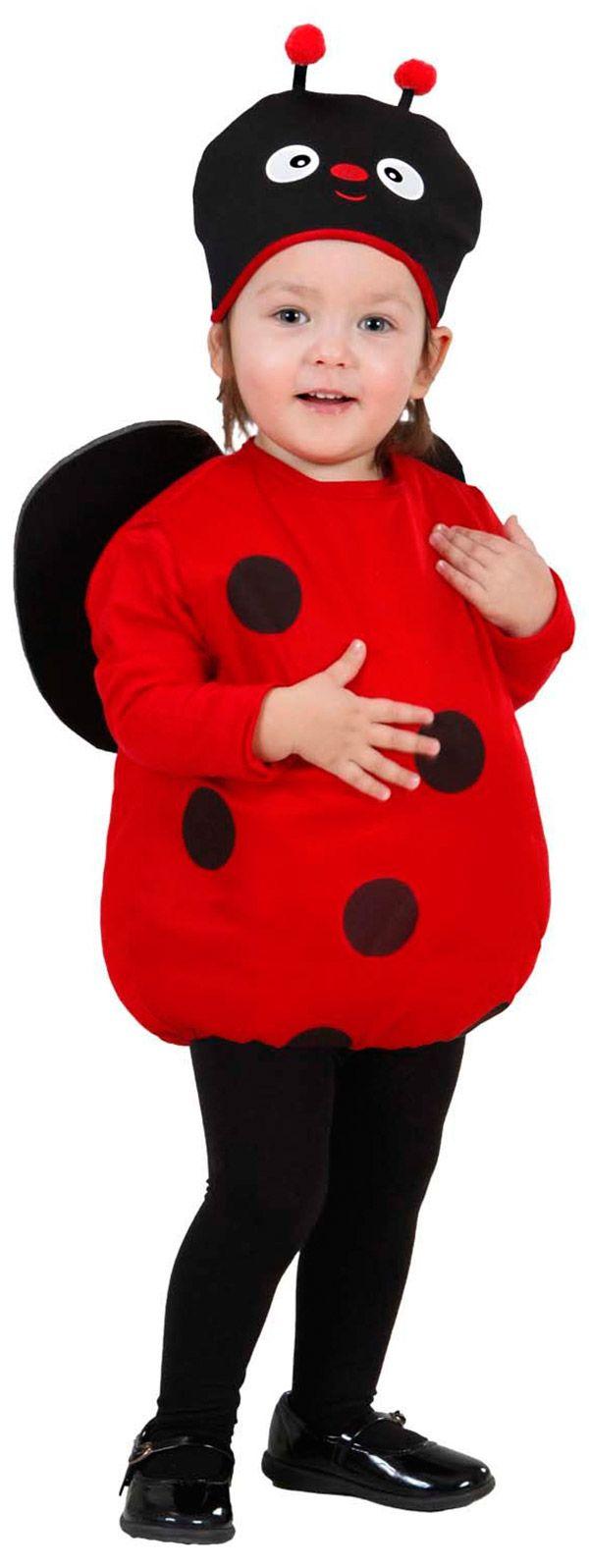 Disfraz de mariquita: Este disfraz de mariquita para niños y niñas está copmuesto por un mono sin mangas y una cofia (medias y zapatos no incluidos). El mono es de color rojo, con topos negros y alas...