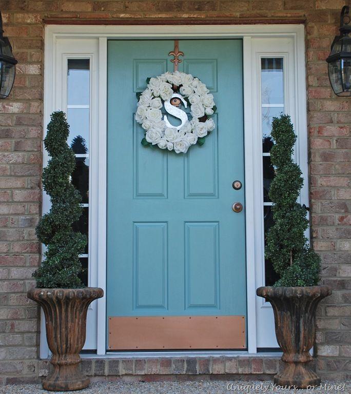 Blue Painted Front Door Doors Pinterest Paint Colors
