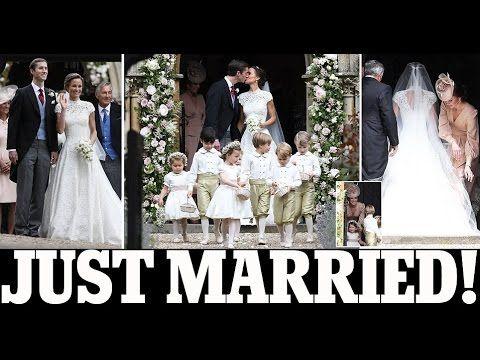Pippa Middleton and her new husband James Matthews /  Pippa Middleton we...