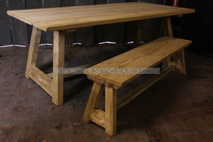 Trestle Table in Reclaimed / Salvaged Timber | Wilsonsyard.com