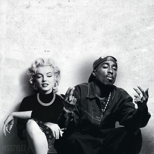 marilyn monroe & tupac....painting in near future!