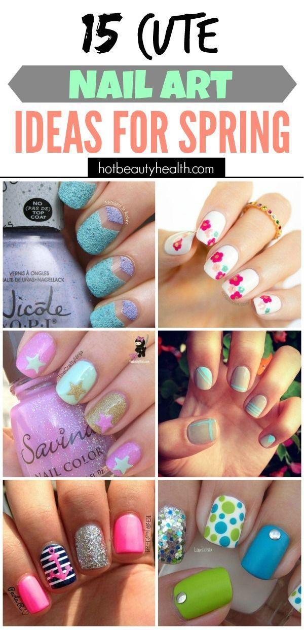 Ladybug nail art for short nails : Ideas about kid nail art on animal