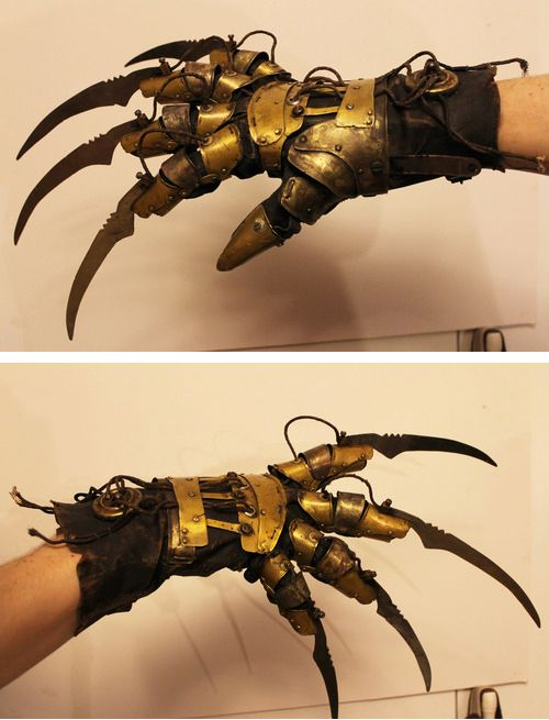 Steampunk Tendencies | Steampunk Freddy Krueger glove - Jacob Petersson #Steampunk