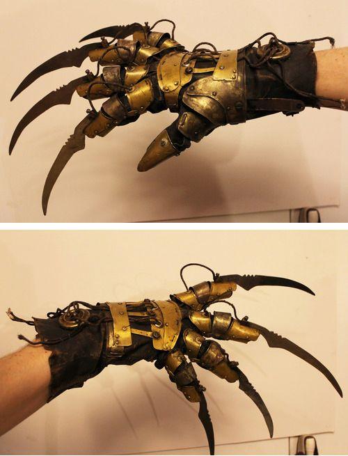 Steampunk Tendencies | Steampunk Freddy Krueger glove - Jacob Petersson #Steampunk