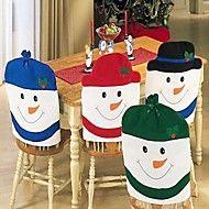 4pcs+de+la+manera+casquillo+de+santa+cláusula+sombrero+rojo+silla+Mobiliario+de+la+contraportada+de+mesa+de+la+cena+de+Navidad+del+–+MXN+$+428.5