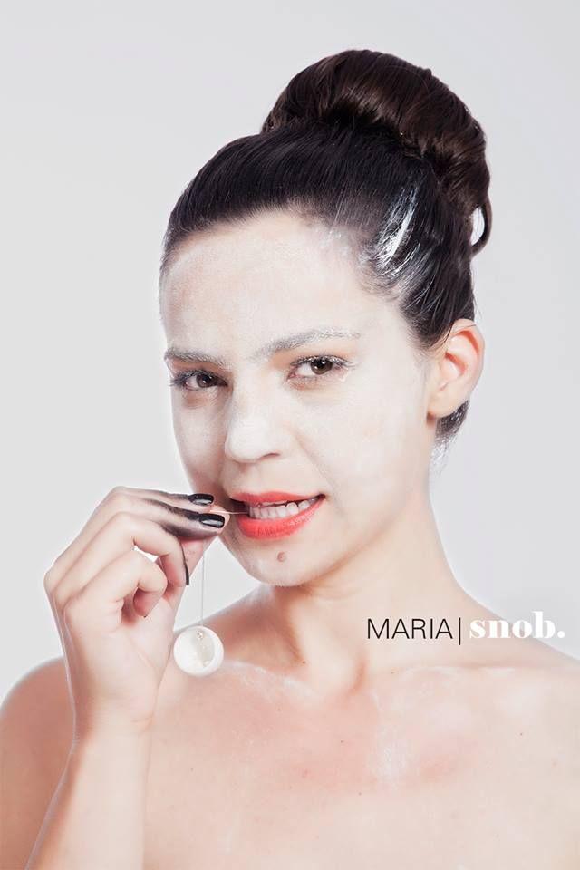 MARIA snob. A/W2015 Campaign starring Maria Dinulescu  photo: Camil Dumitrescu make-up: Ana Budeanu Make Up hairstyle: Dana Negrila